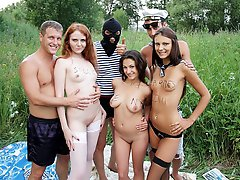 9 pics & movs - Wild outdoor party with hard fucking