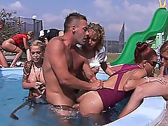 3 movies - Outdoor Pool Orgy Party