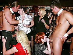 4 movies - Horny sex party with hot chicks at the local dance club